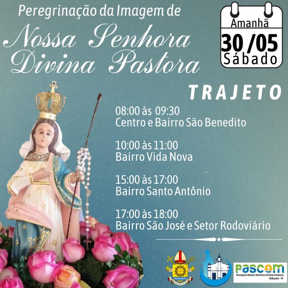 Missão Mariana será realizada pela Paróquia Divina Pastora em Gilbués