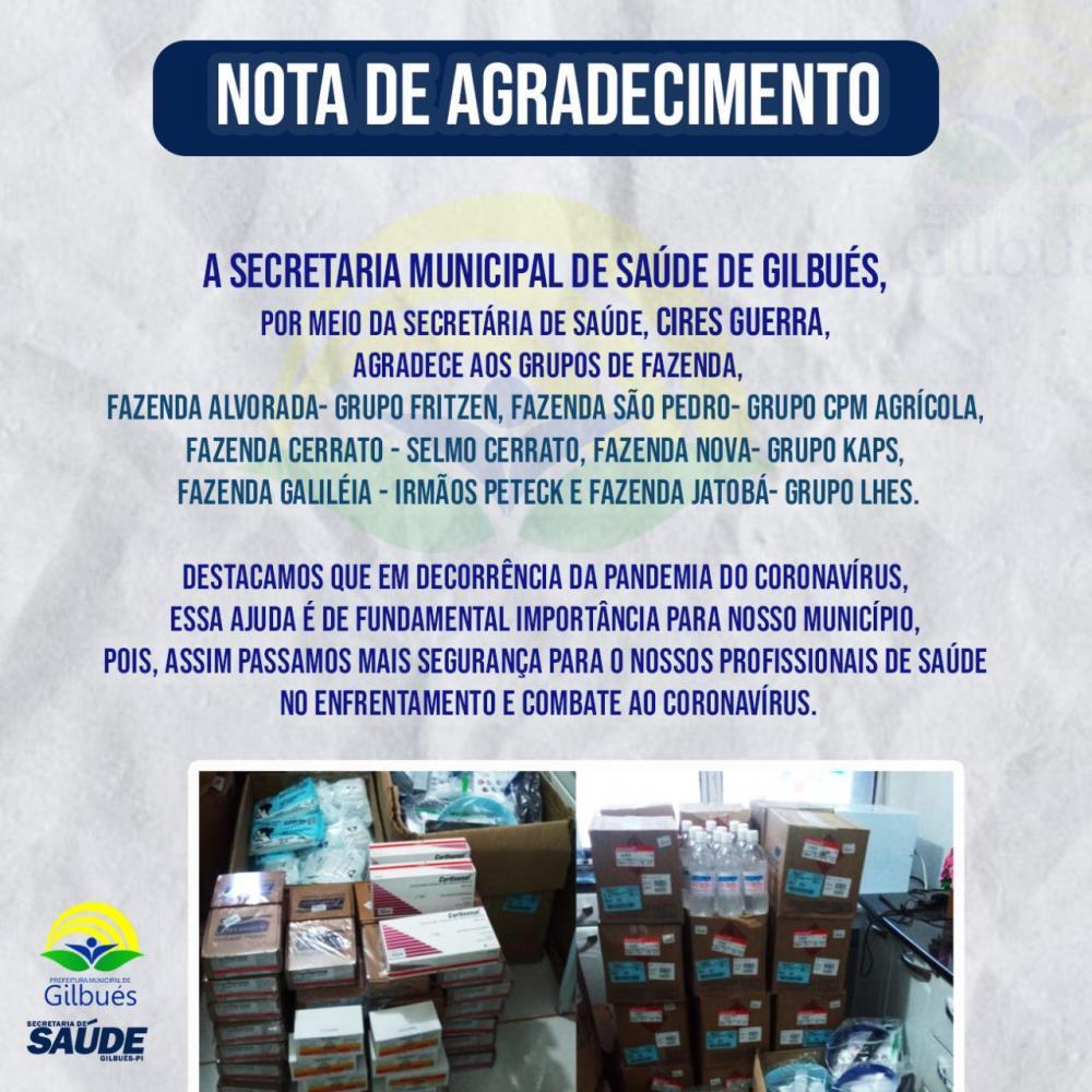 Saúde de Gilbués recebe doações de EPI's e produtos de higiene