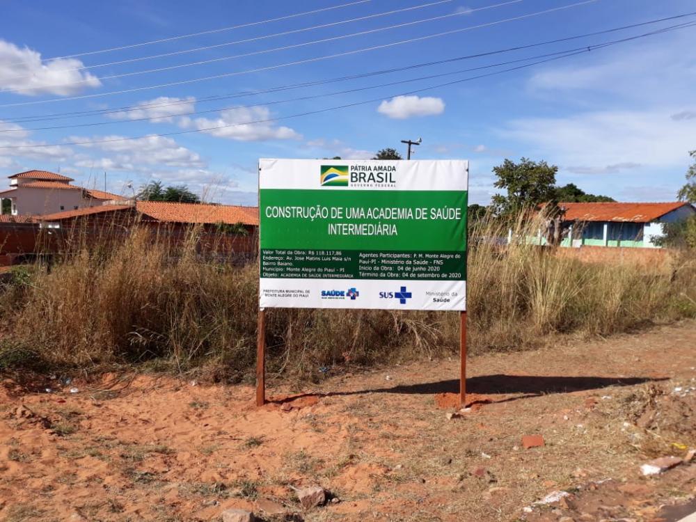 Academia de Saúde será construída no bairro Baiano em Monte Alegre