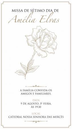 7º dia: Missa de Amélia Elvas acontece nesta quinta-feira (9)