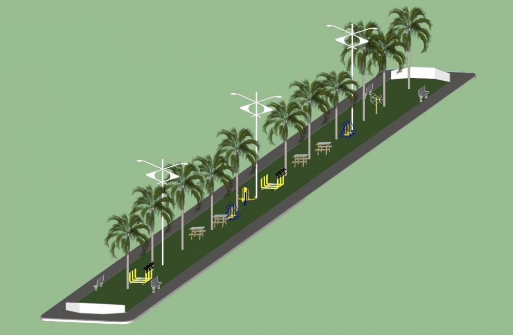 Praça será construída na localidade Palestina