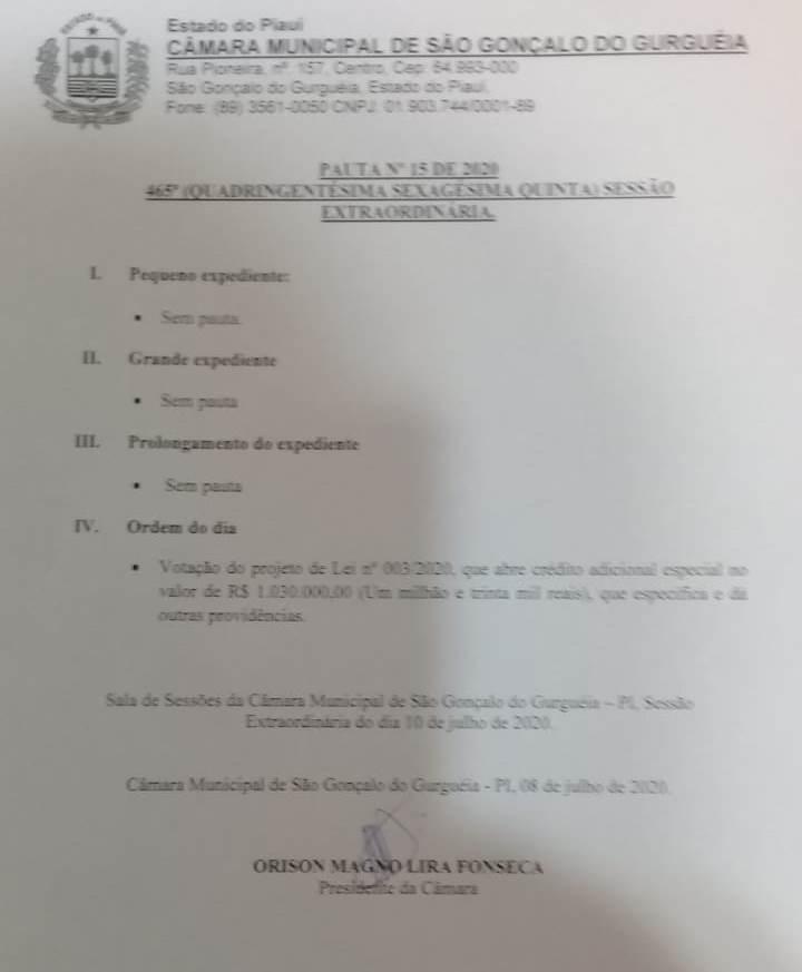 Câmara aprova adicional de recursos para aplicação em melhorias de São Gonçalo