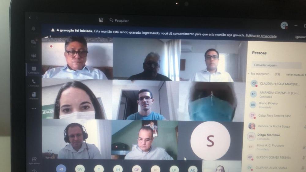 Representantes do MPPI debatem situação do Hospital de Bom Jesus por videochamada
