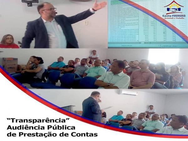 Santa Filomena: Prefeitura realiza audiência pública, prestação de contas