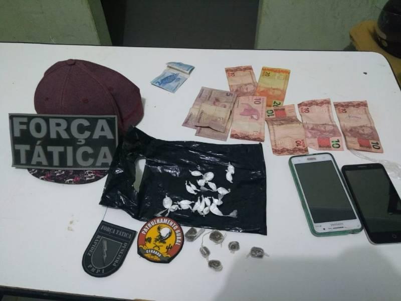Casal é preso por tráfico de drogas em Avelino Lopes