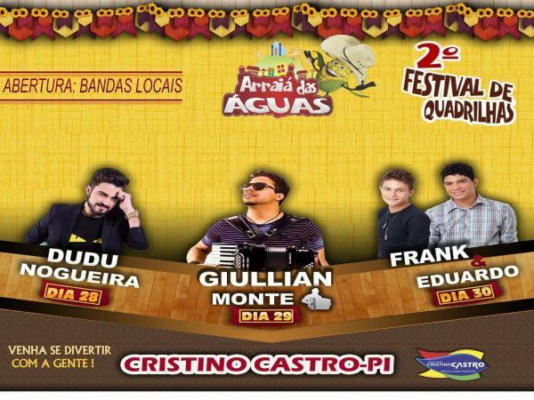 Cristino Castro realizará seu II Festival Arraiá das Águas