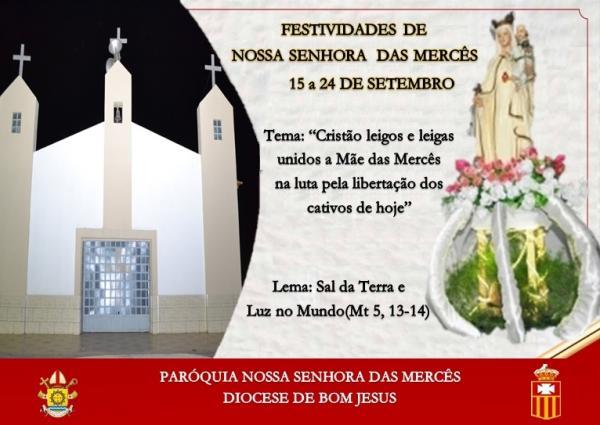 Festejos de Nossa Senhora das Mercês em Avelino Lopes.
