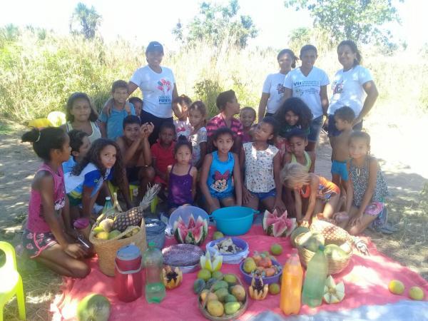 SCVF promove momento de lazer com crianças do povoado Brejo.