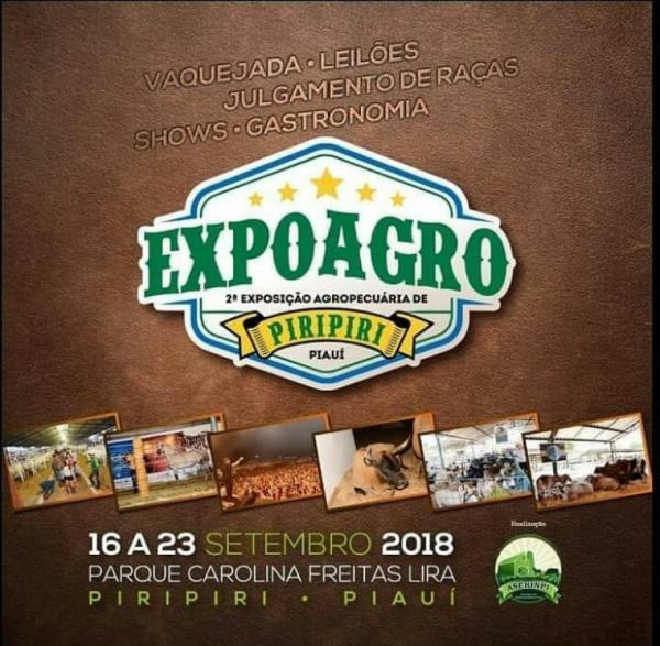 De 16 a 23: acontece a 2ª EXPOAGRO de Piripiri