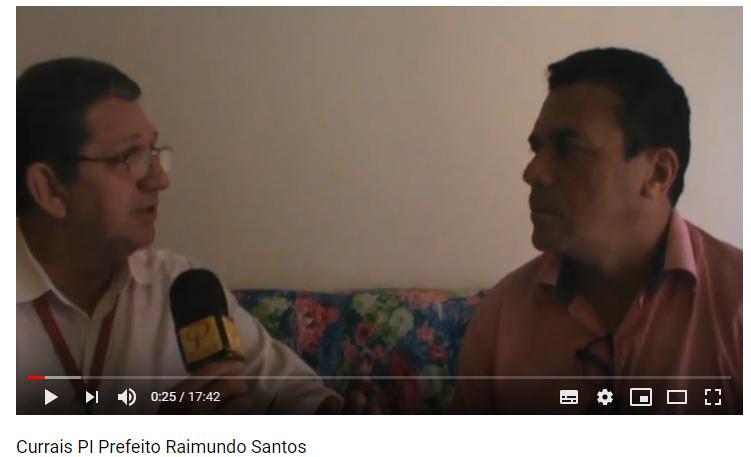 Entrevista do prefeito Raimundo Santos ao repórter Valberto