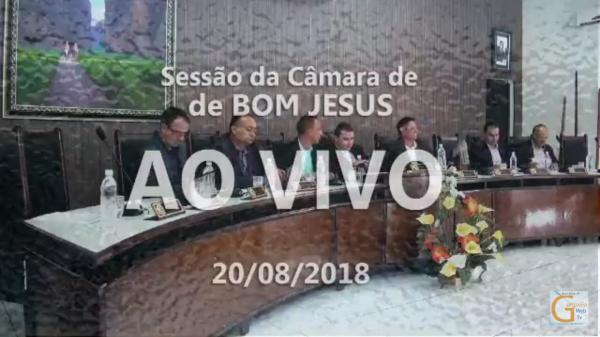 Vídeo: Sessão da Câmara de Bom Jesus de 20 de agosto