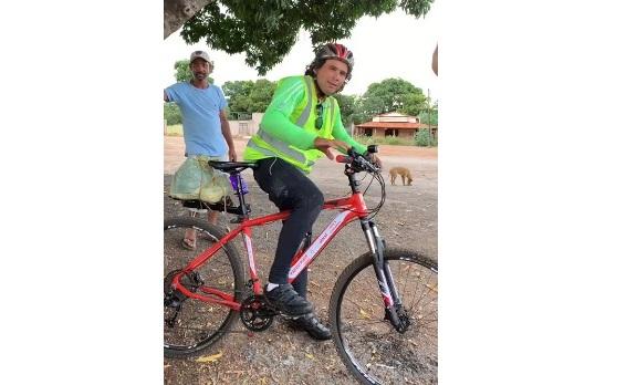 Ciclista saiu do Goiás com destino à Bom Jesus-PI