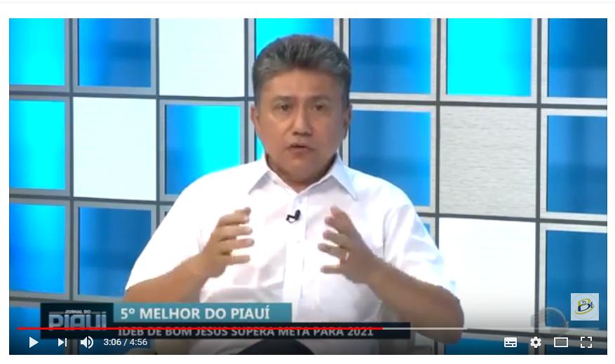 IDEB: Prefeito Marcos Elvas no Jornal da TV Cidade Verde