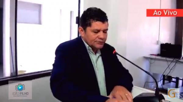 Vídeo: Vereador Netinho comunicando que agora é SITUAÇÃO